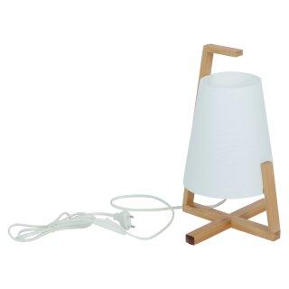 """Bambus Tischleuchte mit Kunststoffschirm """"Shoji"""""""