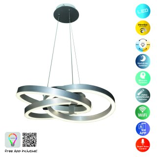 Smart Home LED Pendelleuchte Divora d: 55cm