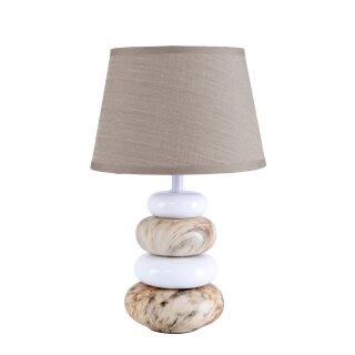 """Keramik Tischleuchte """"Stoney"""" h: 31cm"""