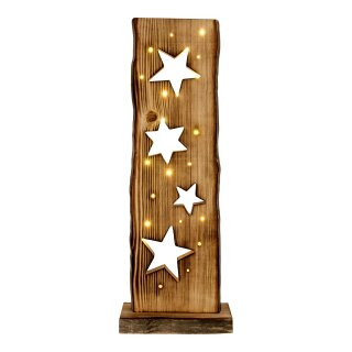 LED-Holz-Weihnachtsleuchte Sternemotiv h: 60cm