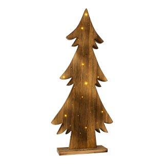 LED-Holztannenbaum h: 90cm