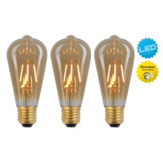 LED Leuchtmittel E27/4W 3er-Set Filament